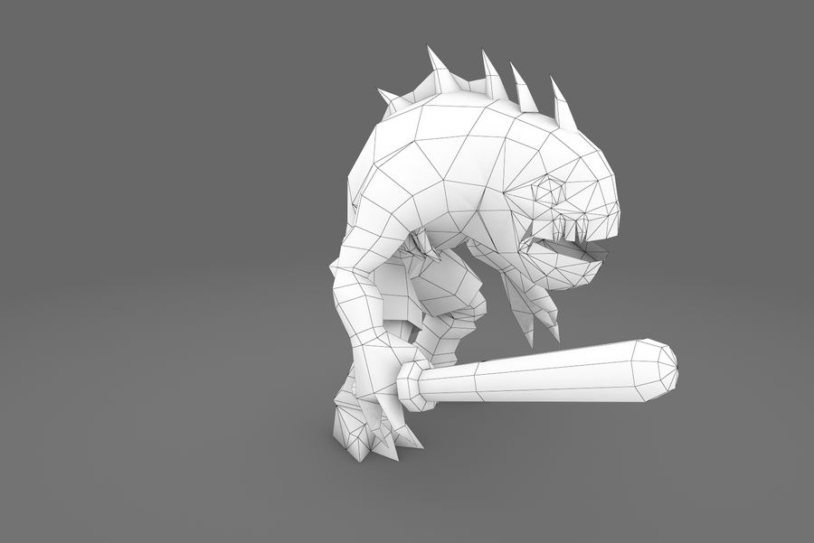 Animated Rigged Creature Type G royalty-free 3d model - Preview no. 1