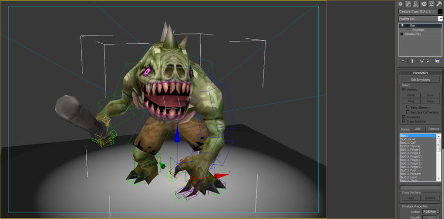 Animated Rigged Creature Type G royalty-free 3d model - Preview no. 7