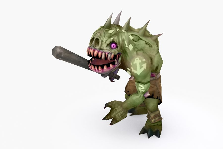 Animated Rigged Creature Type G royalty-free 3d model - Preview no. 3