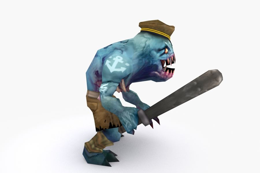Animated Rigged Creature Type C royalty-free 3d model - Preview no. 5