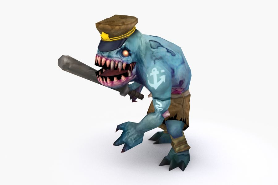 Animated Rigged Creature Type C royalty-free 3d model - Preview no. 3