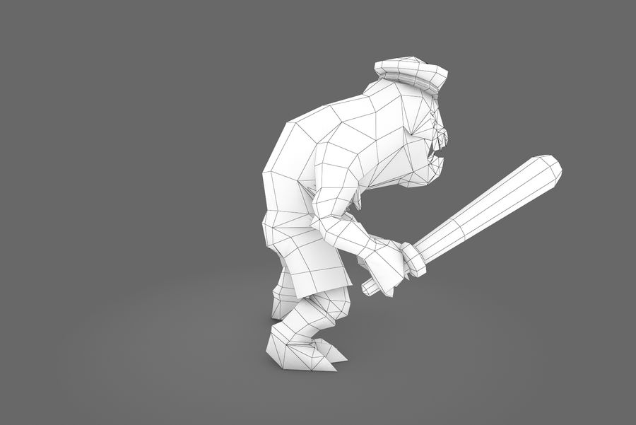 Animated Rigged Creature Type C royalty-free 3d model - Preview no. 11