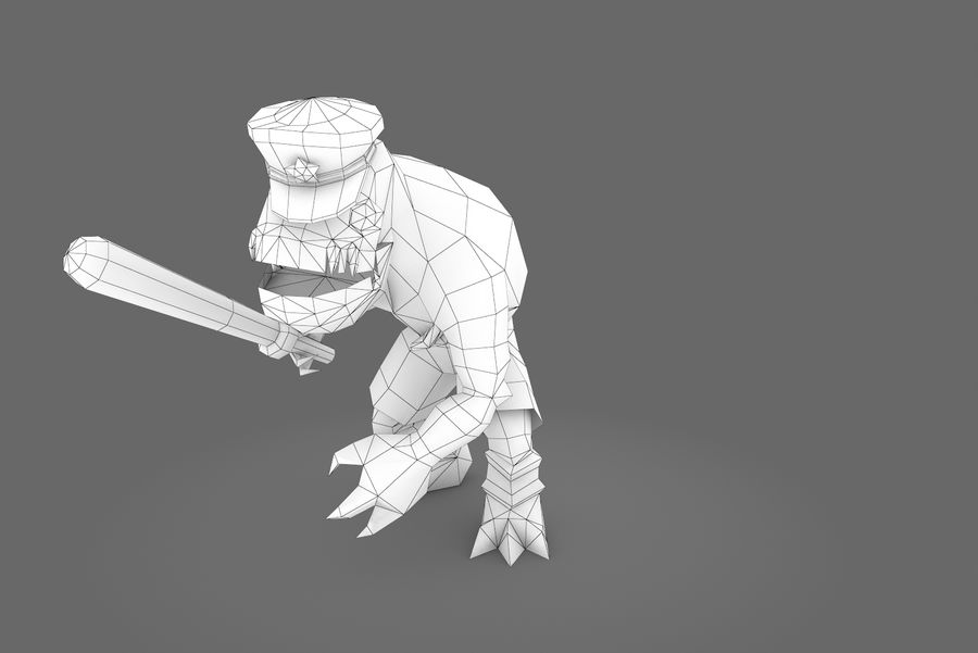 Animated Rigged Creature Type C royalty-free 3d model - Preview no. 13