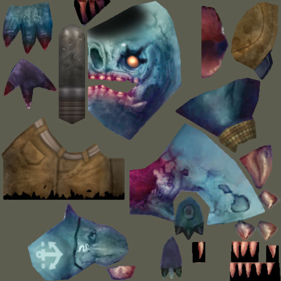 Animated Rigged Creature Type C royalty-free 3d model - Preview no. 15