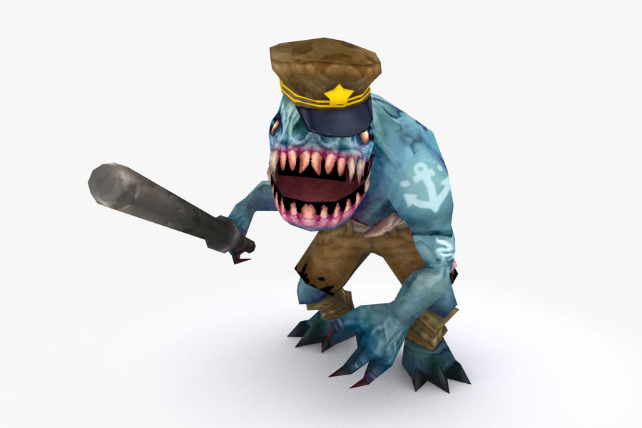 Animated Rigged Creature Type C royalty-free 3d model - Preview no. 2