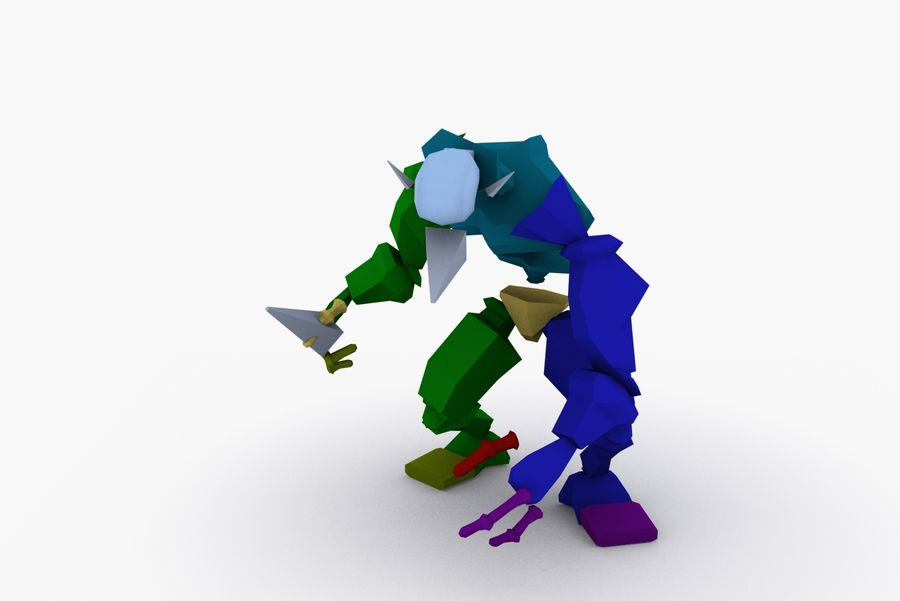 Animated Rigged Creature Type C royalty-free 3d model - Preview no. 8