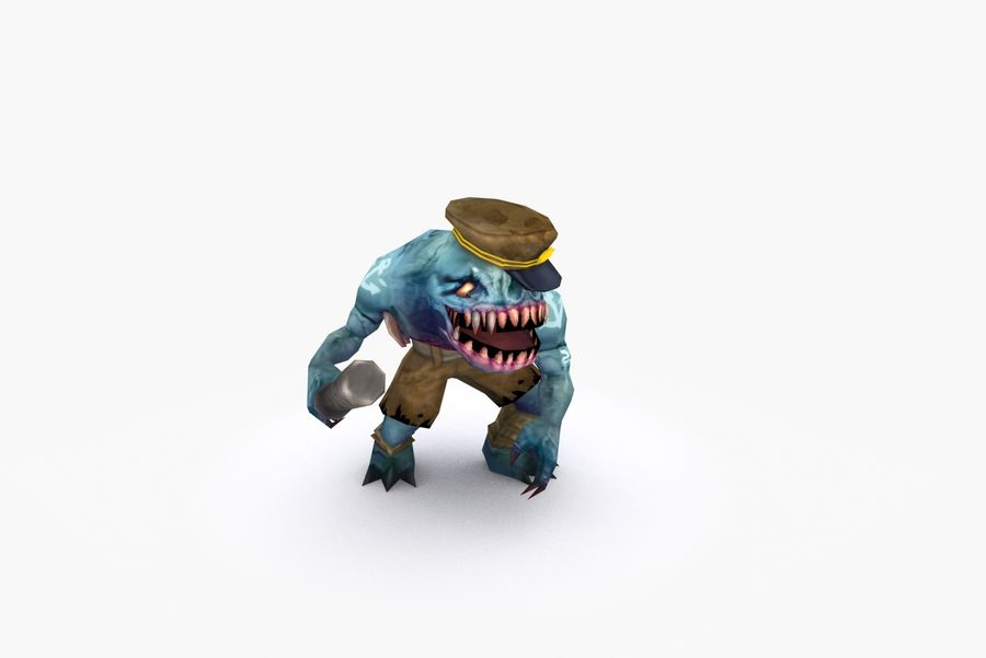 Animated Rigged Creature Type C royalty-free 3d model - Preview no. 6