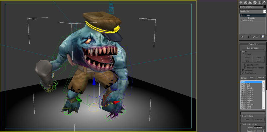 Animated Rigged Creature Type C royalty-free 3d model - Preview no. 7