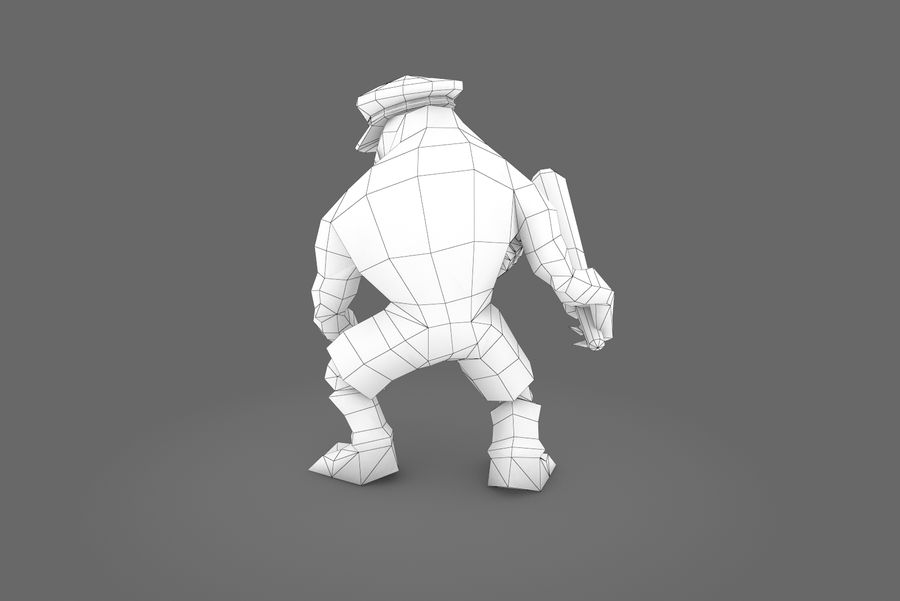 Анимированное Rigged Creature Type C royalty-free 3d model - Preview no. 3