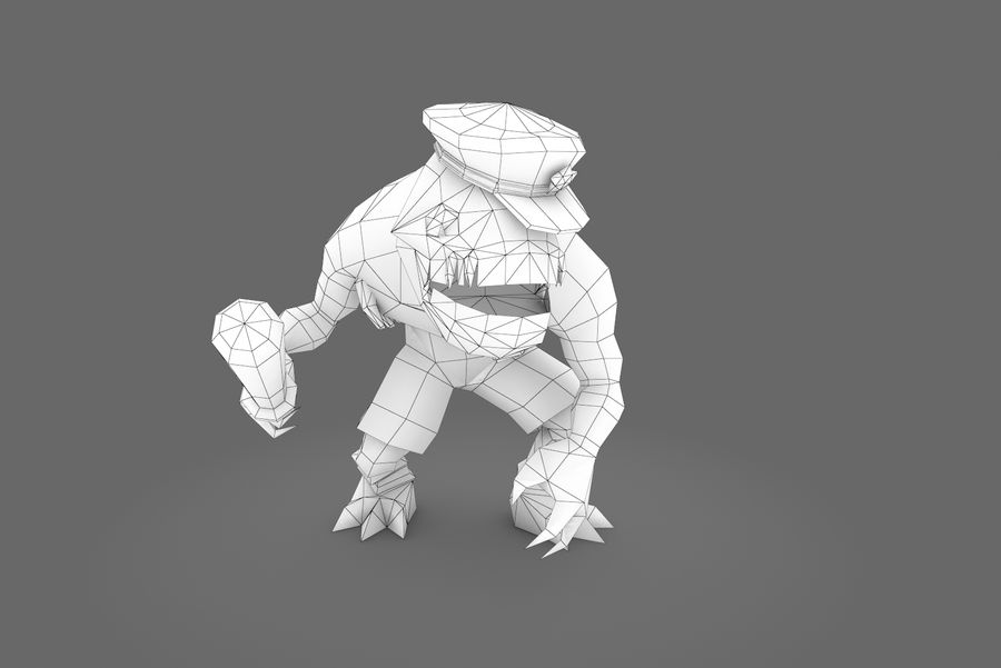 Animated Rigged Creature Type C royalty-free 3d model - Preview no. 9