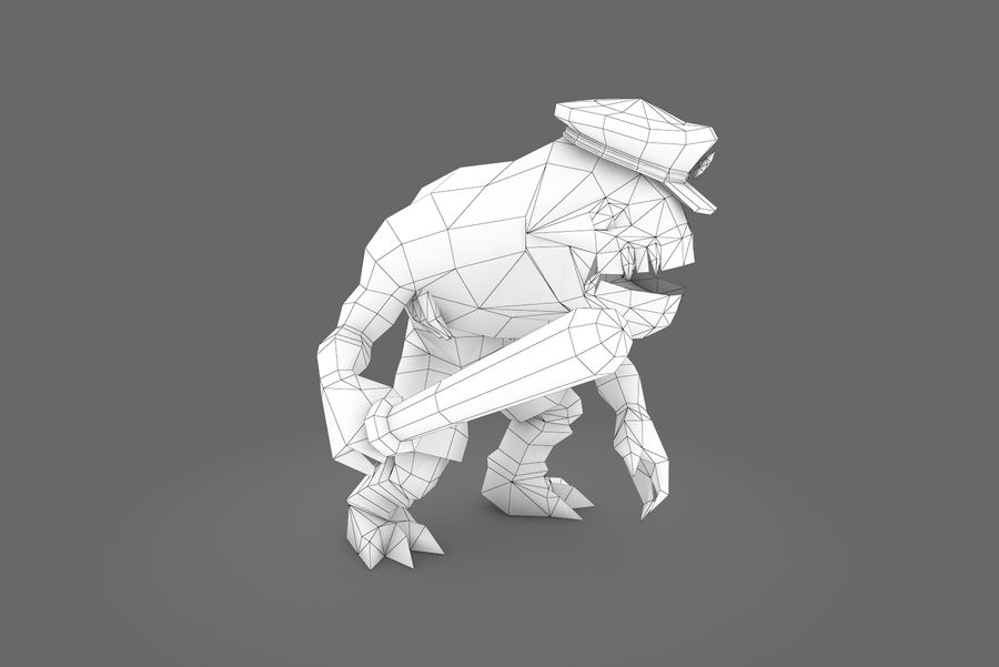 Animated Rigged Creature Type C royalty-free 3d model - Preview no. 10