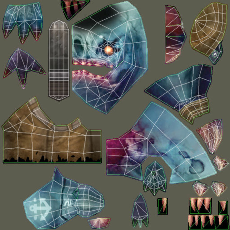 Animated Rigged Creature Type C royalty-free 3d model - Preview no. 16