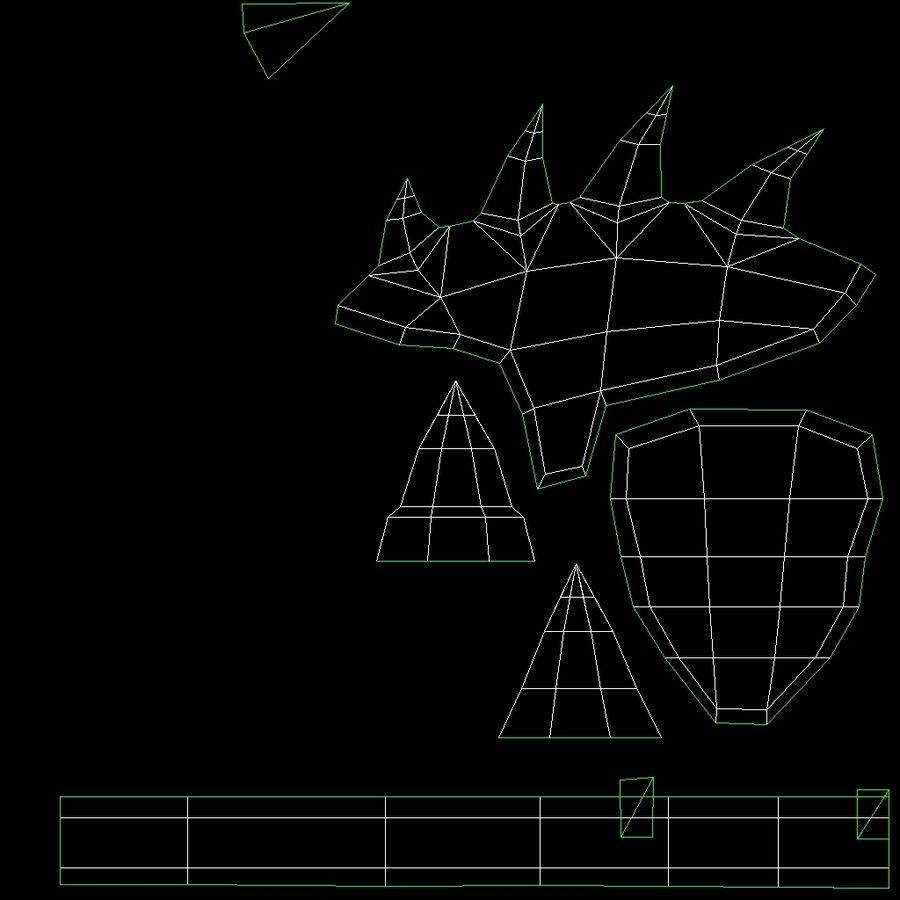 Animierte manipulierte Kreatur Typ D royalty-free 3d model - Preview no. 16