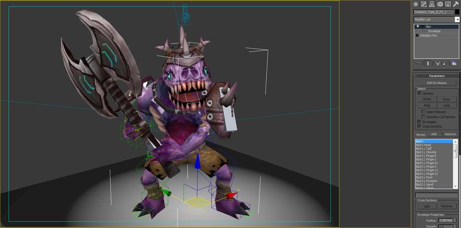 Animierte manipulierte Kreatur Typ D royalty-free 3d model - Preview no. 7