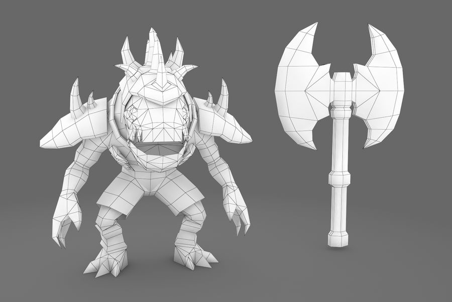 Animated Rigged Creature Type D royalty-free 3d model - Preview no. 10