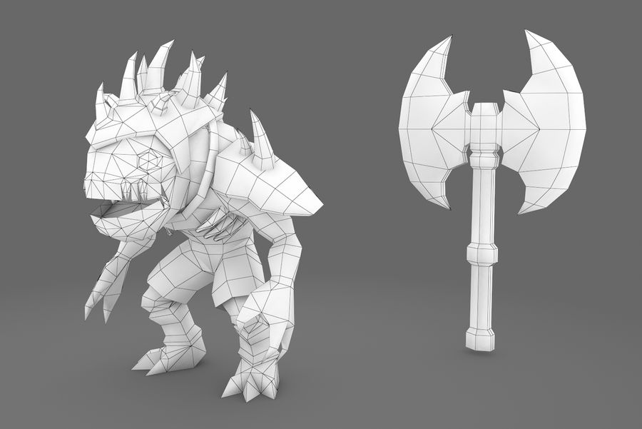 Animated Rigged Creature Type D royalty-free 3d model - Preview no. 4