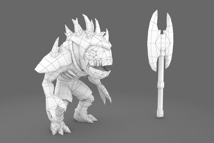 Animated Rigged Creature Type D royalty-free 3d model - Preview no. 1