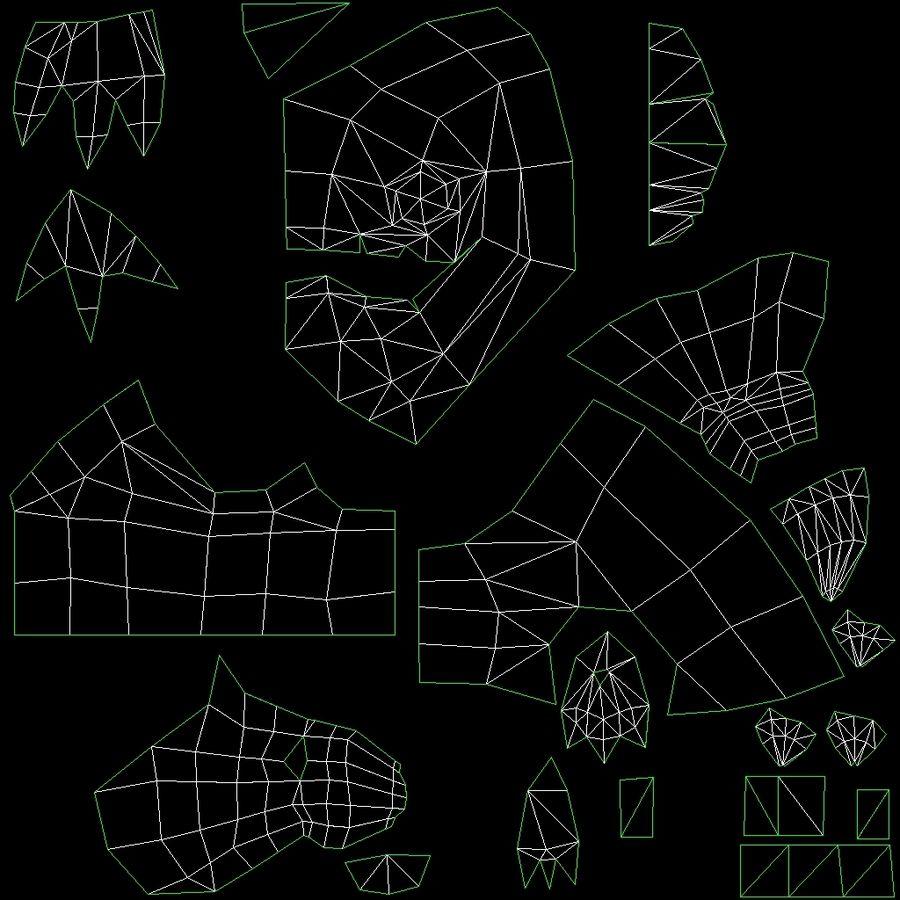 Animierte manipulierte Kreatur Typ D royalty-free 3d model - Preview no. 15