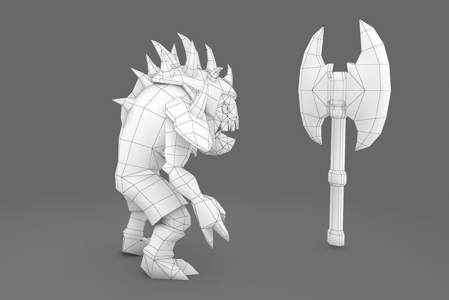 Animated Rigged Creature Type D royalty-free 3d model - Preview no. 2