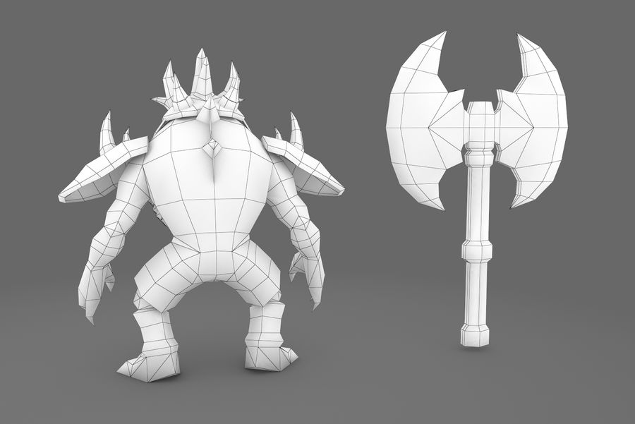 Animated Rigged Creature Type D royalty-free 3d model - Preview no. 3