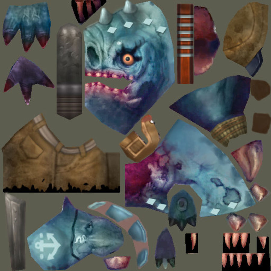 Animated Rigged Creature Type E royalty-free 3d model - Preview no. 6