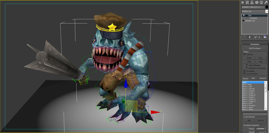 Animated Rigged Creature Type E royalty-free 3d model - Preview no. 7