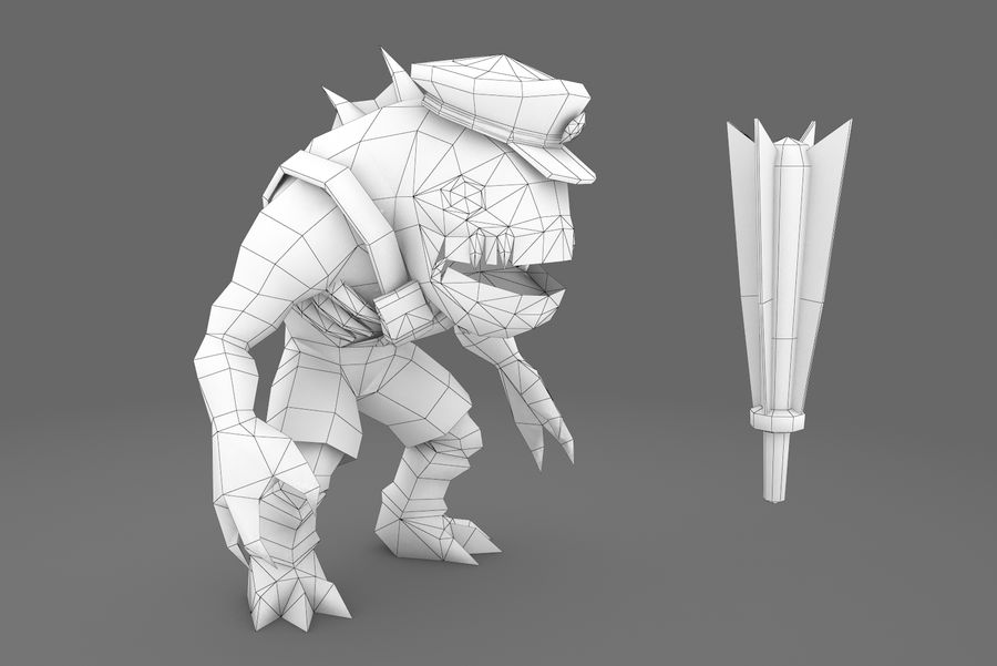 Animated Rigged Creature Type E royalty-free 3d model - Preview no. 1