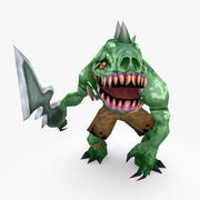 Animated Rigged Creature Type F 3d model