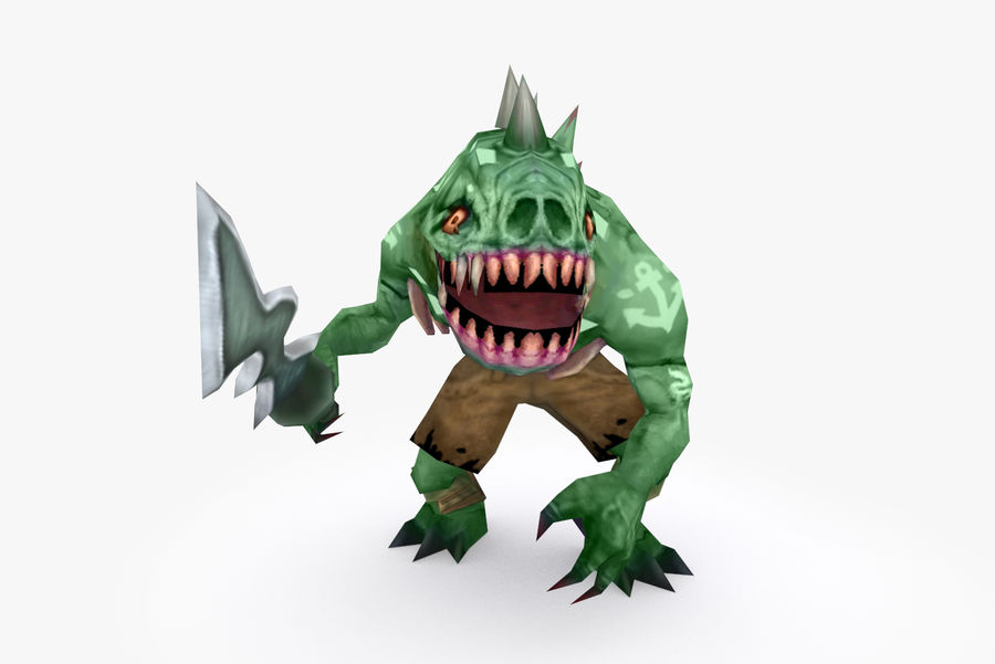 Animated Rigged Creature Type F royalty-free 3d model - Preview no. 2