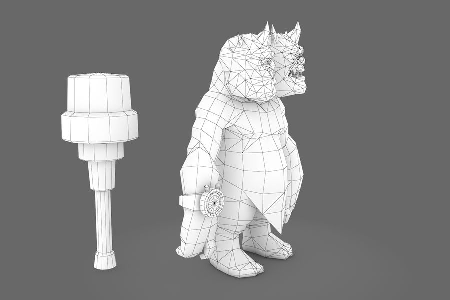 Animated Rigged Creature Type H royalty-free 3d model - Preview no. 10