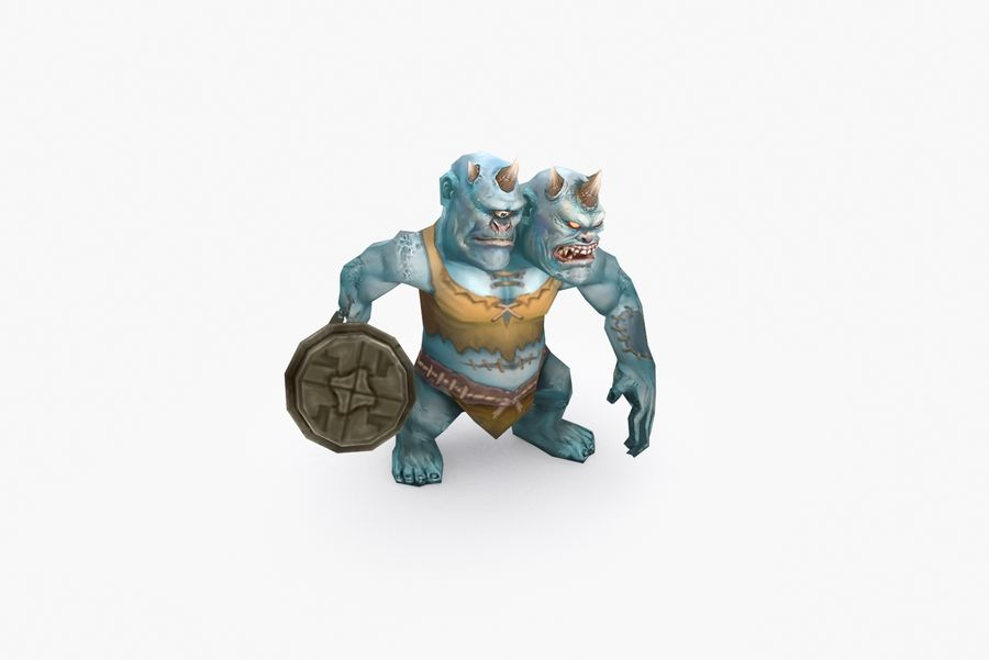 Animated Rigged Creature Type H royalty-free 3d model - Preview no. 6