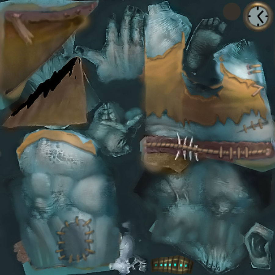 Animated Rigged Creature Type H royalty-free 3d model - Preview no. 15
