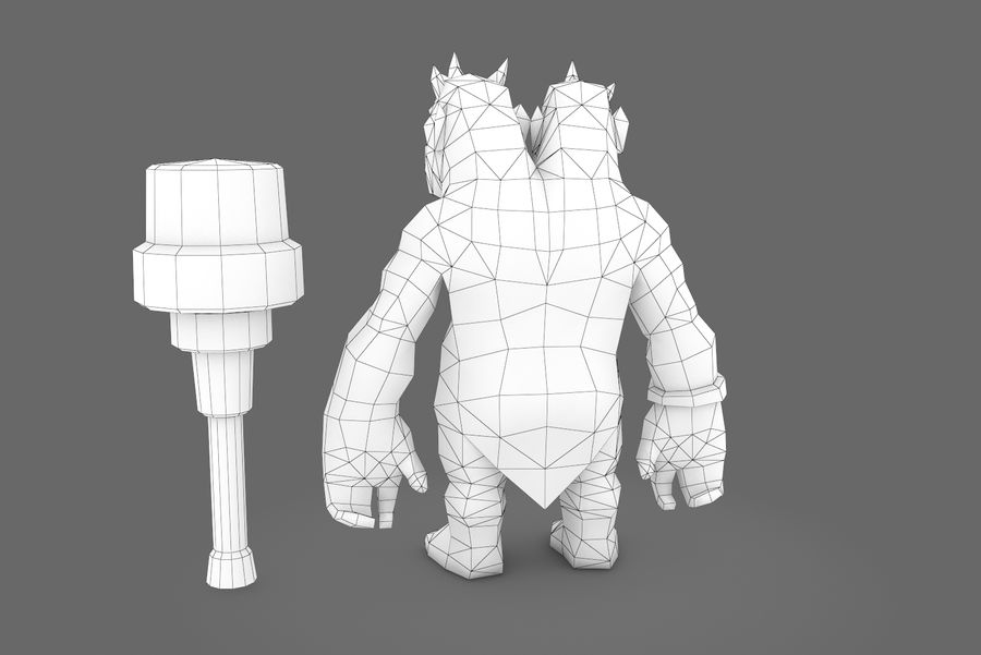 Animated Rigged Creature Type H royalty-free 3d model - Preview no. 12