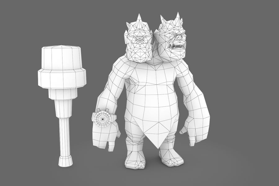 Animated Rigged Creature Type H royalty-free 3d model - Preview no. 9