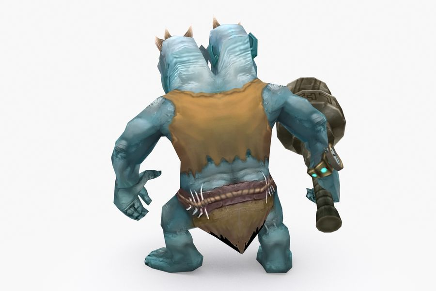 Animated Rigged Creature Type H royalty-free 3d model - Preview no. 4