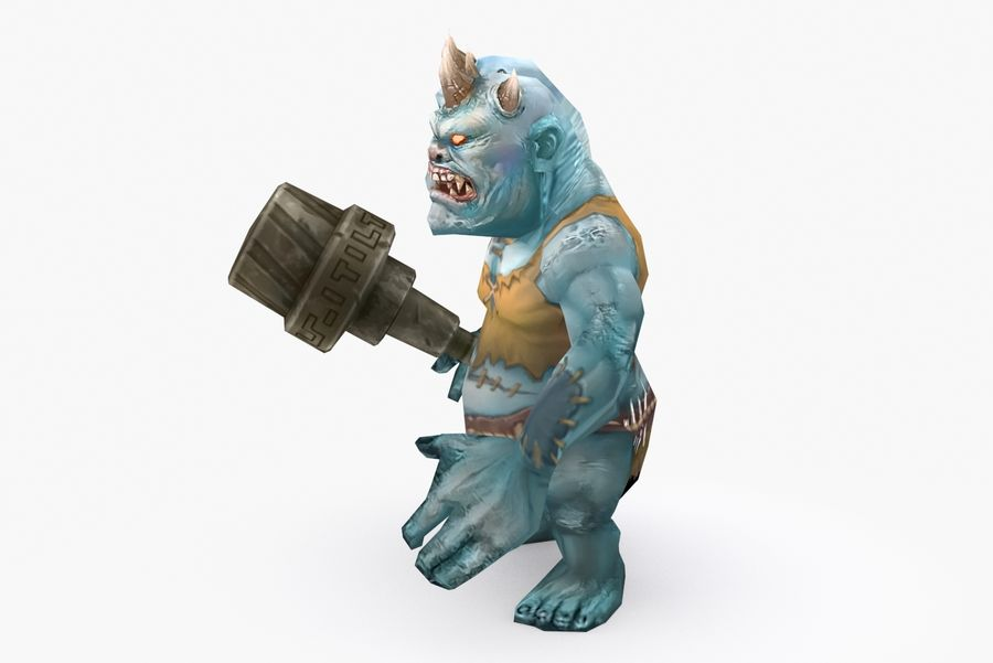 Animated Rigged Creature Type H royalty-free 3d model - Preview no. 3