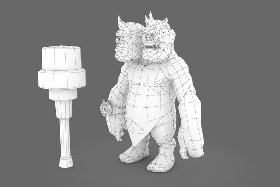 Animated Rigged Creature Type H royalty-free 3d model - Preview no. 13