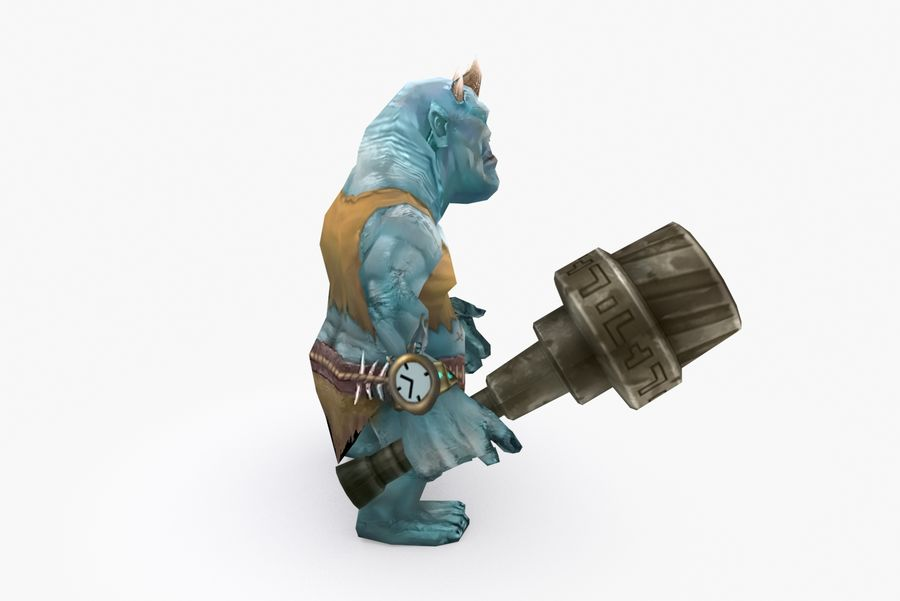 Animated Rigged Creature Type H royalty-free 3d model - Preview no. 5