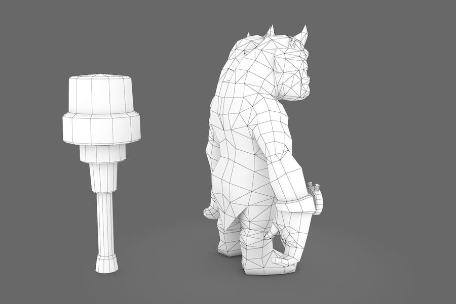 Animated Rigged Creature Type H royalty-free 3d model - Preview no. 11