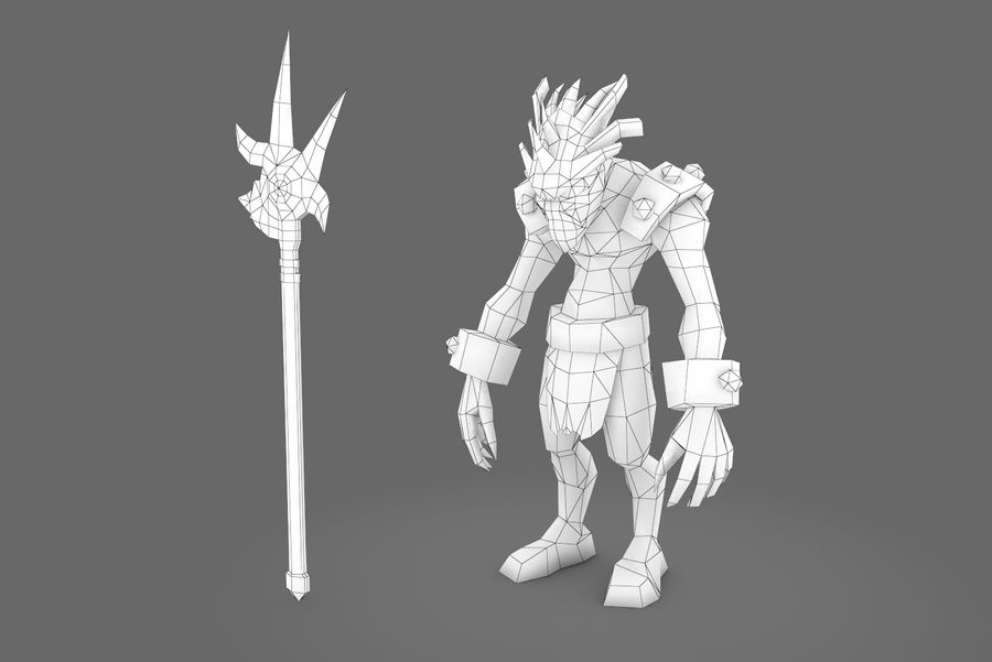 Animated Rigged Creature Type I royalty-free 3d model - Preview no. 5