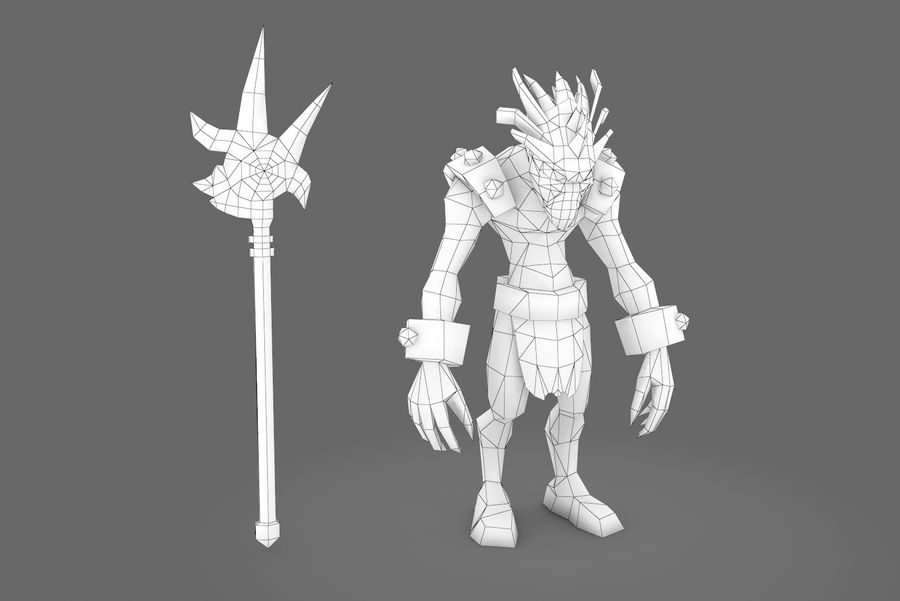 Animated Rigged Creature Type I royalty-free 3d model - Preview no. 1