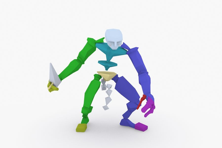 Animated Rigged Creature Type I royalty-free 3d model - Preview no. 8
