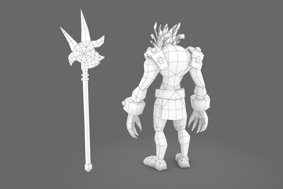 Animated Rigged Creature Type I royalty-free 3d model - Preview no. 4