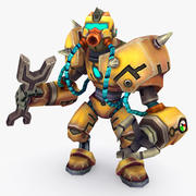 Animated Rigged Robot Type F 3d model