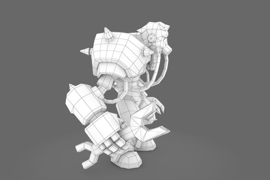 Animated Rigged Robot Type F royalty-free 3d model - Preview no. 11