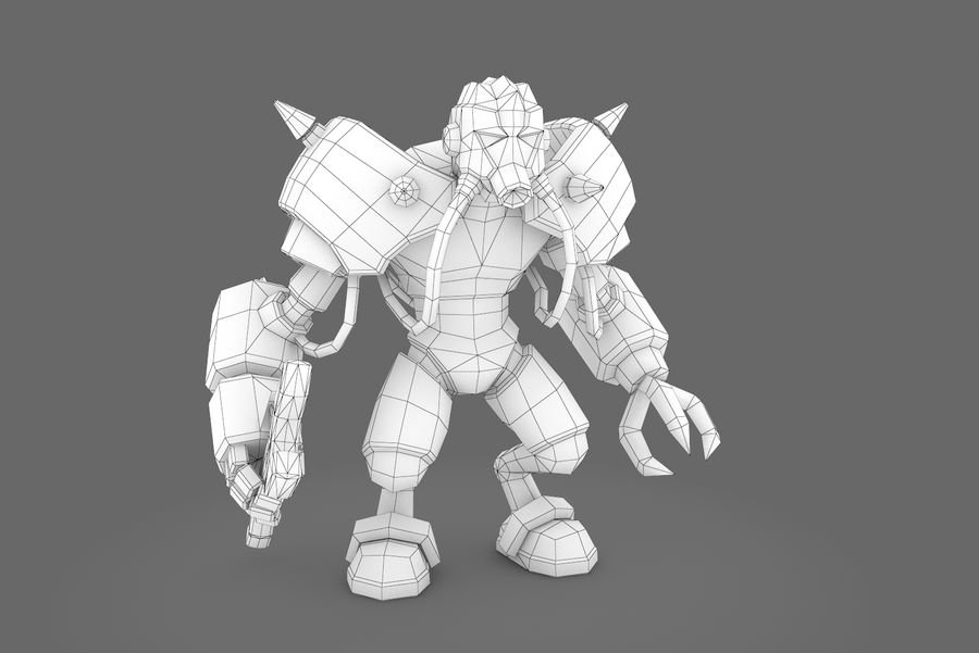 Animated Rigged Robot Type F royalty-free 3d model - Preview no. 10