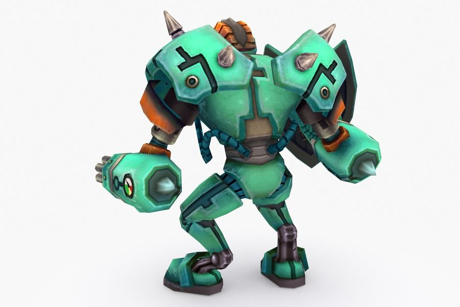 Animated Rigged Robot Type G royalty-free 3d model - Preview no. 4