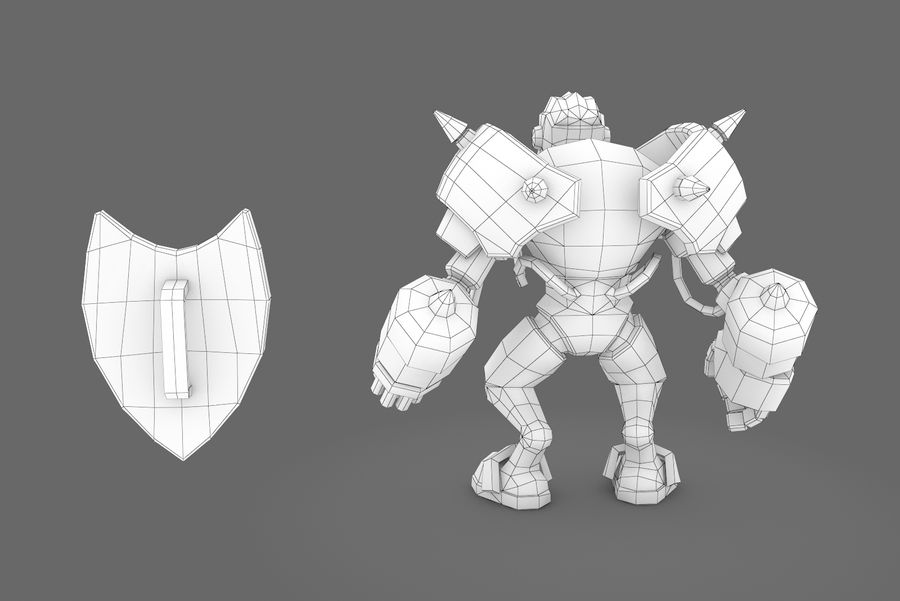 Animated Rigged Robot Type G royalty-free 3d model - Preview no. 3