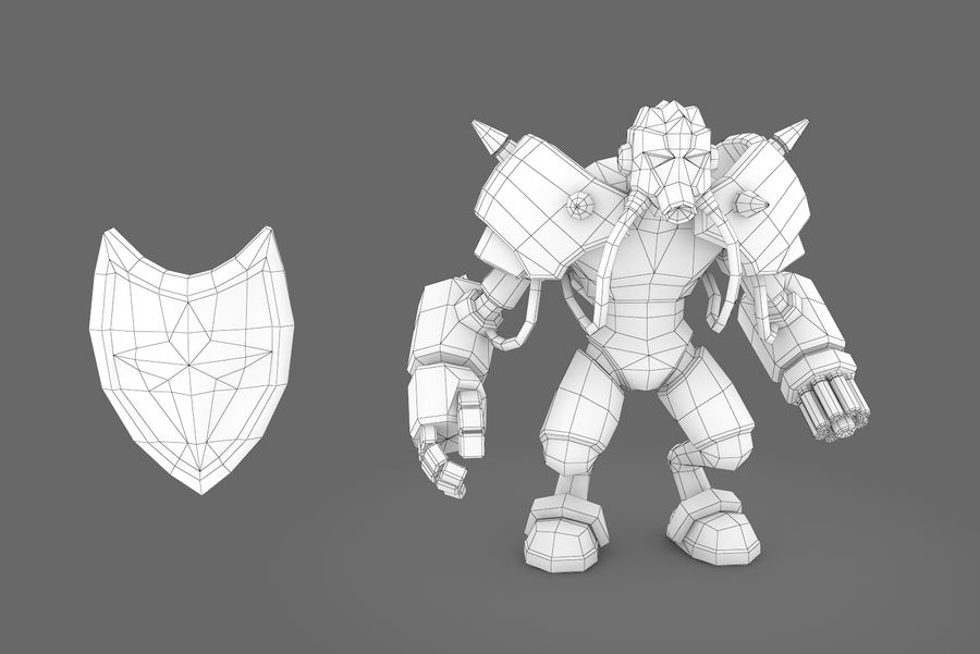Animated Rigged Robot Type G royalty-free 3d model - Preview no. 10