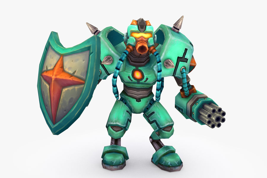 Animated Rigged Robot Type G royalty-free 3d model - Preview no. 2